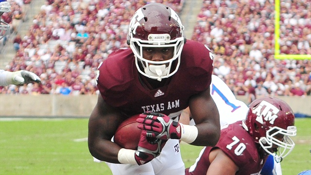 Stars of the game for A&M in 61-7 win over KU