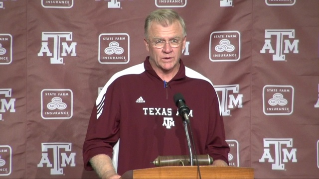 Live notes from A&M football press conference