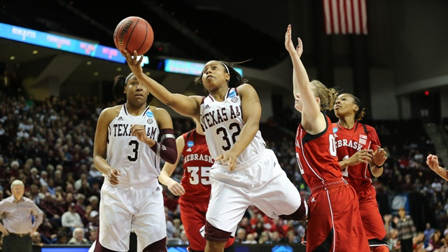 Aggies overrun in second-round loss to Nebraska, 74-63
