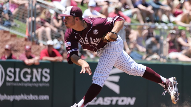 Defensive miscues doom Ags, drop game one to Ole Miss 8-4