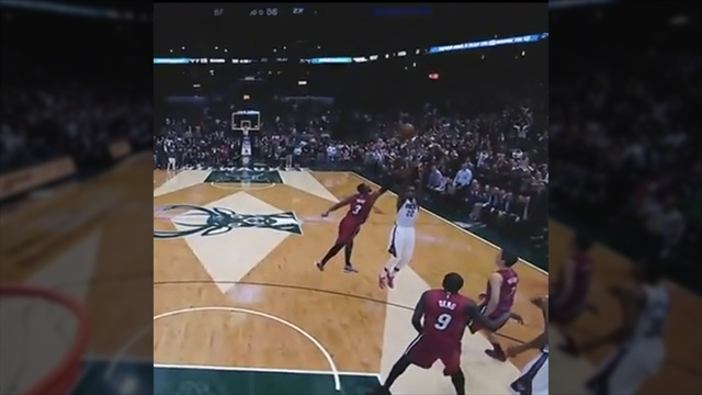 Khris Middleton's buzzer-beater causes on-court party