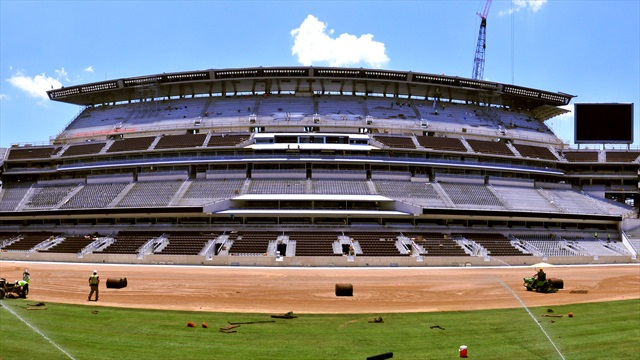 WATCH: Grass goes down in new Kyle Field